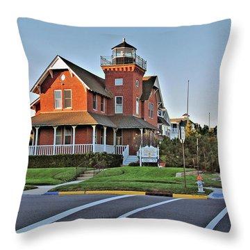 Sea Girt Light Station Throw Pillow