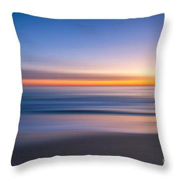 Throw Pillow featuring the photograph Sea Girt New Jersey Abstract Seascape Sunrise by Michael Ver Sprill