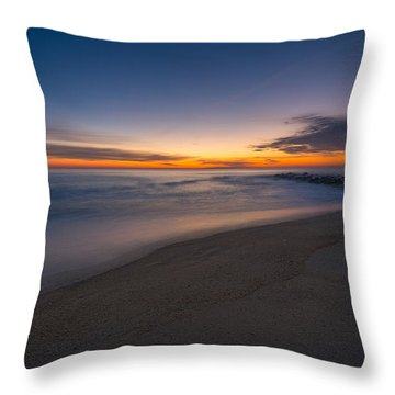 Sea Girt Sunrise New Jersey  Throw Pillow