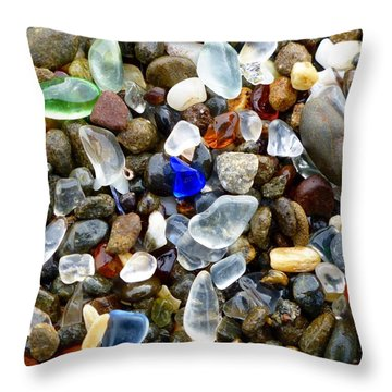 Sea Glass Beauty Throw Pillow by Amelia Racca