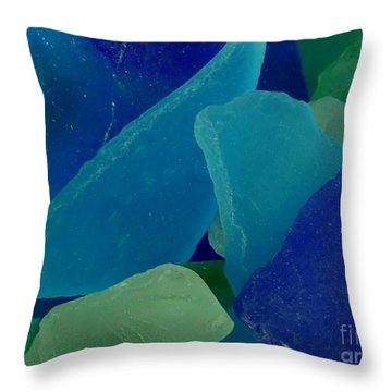 Sea Glass Throw Pillow by Chad and Stacey Hall