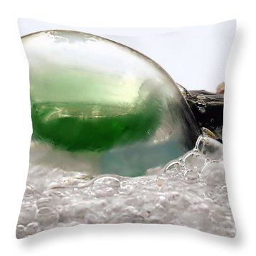 Sea Glass In A Bubble Throw Pillow