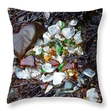 Sea Glass Nest Throw Pillow