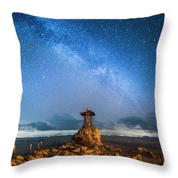 Sea Goddess Statue, Bali Throw Pillow