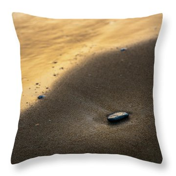 Sea Gold Throw Pillow