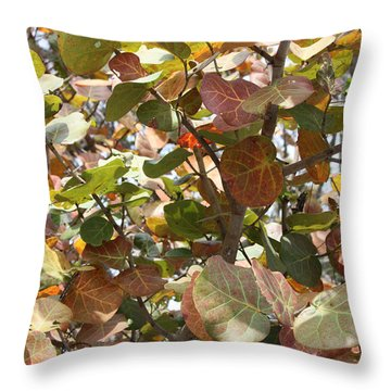 Sea Grapes On Sanibel Throw Pillow by Carol Groenen