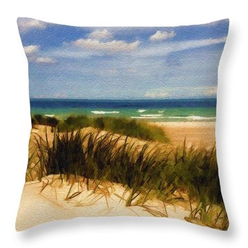 Throw Pillow featuring the photograph Sea Grass by Sandy MacGowan