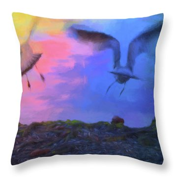 Throw Pillow featuring the photograph Sea Gull Abstract by Jan Amiss Photography