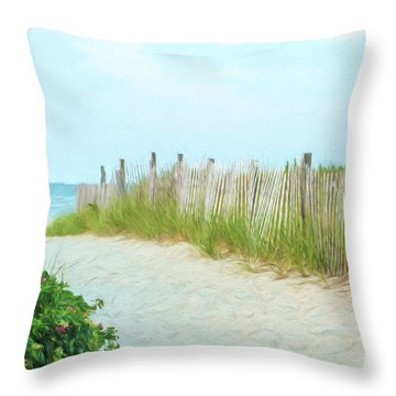 Sea Gull Beach #1 Throw Pillow