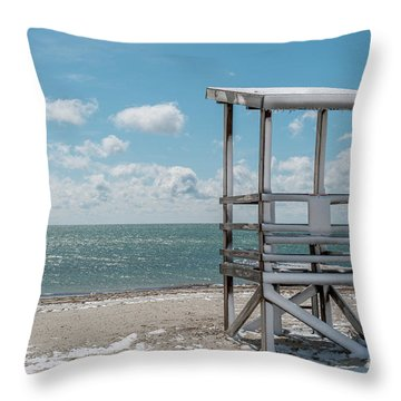 Sea Gull Beach #2 Throw Pillow