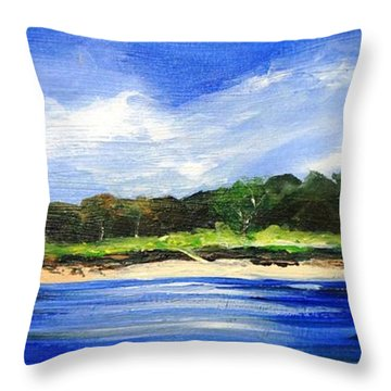 Sea Hill Houses - Original Sold Throw Pillow