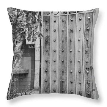 Sea Horse Gate Throw Pillow by Rob Hans