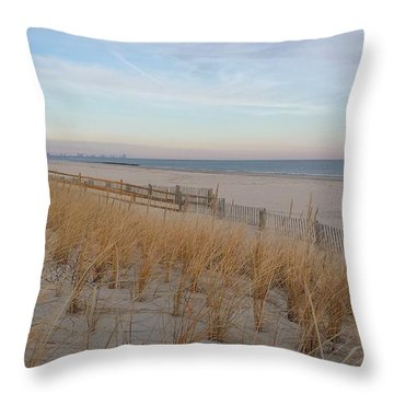 Sea Isle City, N J, Beach Throw Pillow