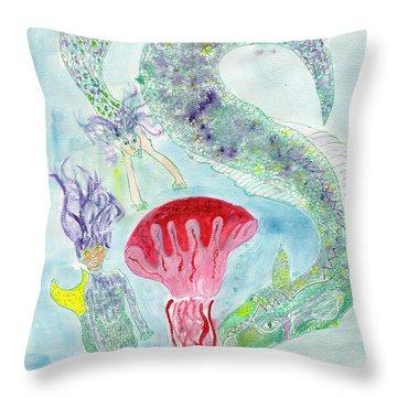 Sea Joys Throw Pillow