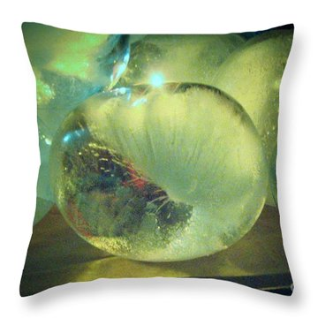Throw Pillow featuring the sculpture Sea Land Sky  by Kristine Nora
