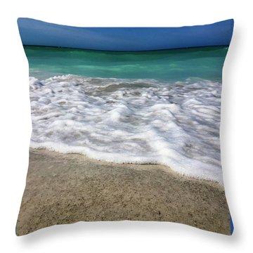 Sea Latte Throw Pillow