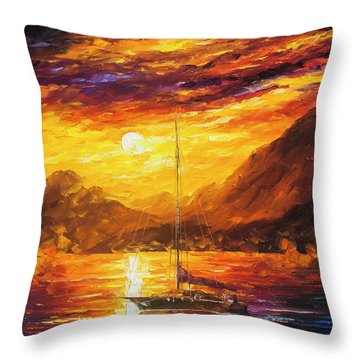 Sea Life   Throw Pillow by Leonid Afremov