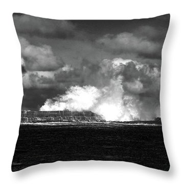 Throw Pillow featuring the photograph Sea Meets Sky by Nareeta Martin