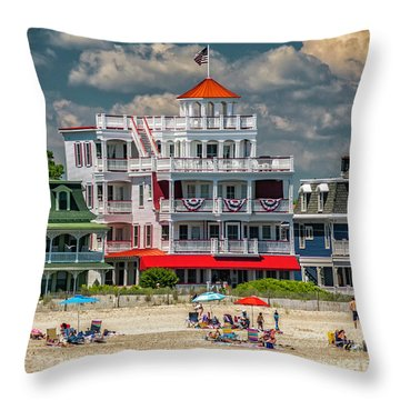 Sea Mist Hotel Throw Pillow