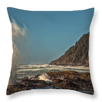 Sea Monster Throw Pillow by Billie-Jo Miller