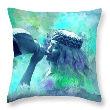 Sea Nymph Throw Pillow