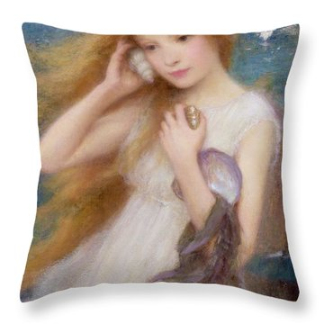 Women On Beach Throw Pillows