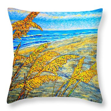 Sea Oats Dual#2 Throw Pillow