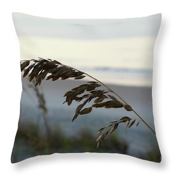 Sea Oats Throw Pillow