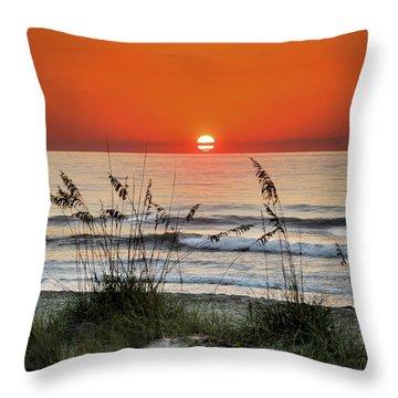 Sea Oats Sunrise Throw Pillow