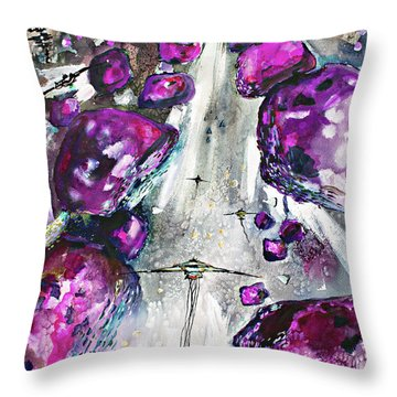 Sea Of Amethysts Travel Log 06 Throw Pillow