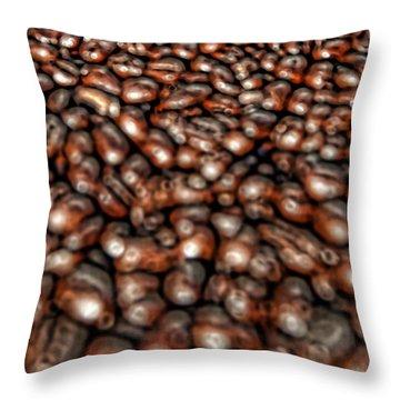 Sea Of Beans Throw Pillow by Gordon Dean II