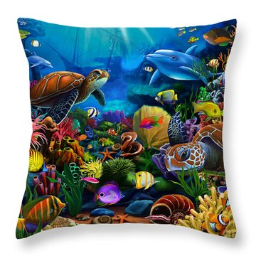 Sea Of Beauty Throw Pillow