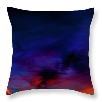 Sea Of Colors Throw Pillow