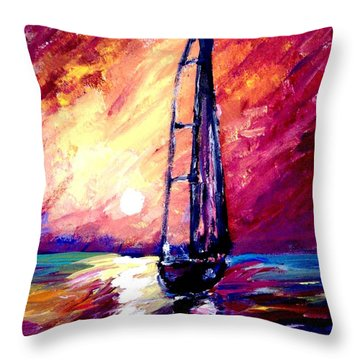 Sea Of Colors Throw Pillow by Michael Grubb