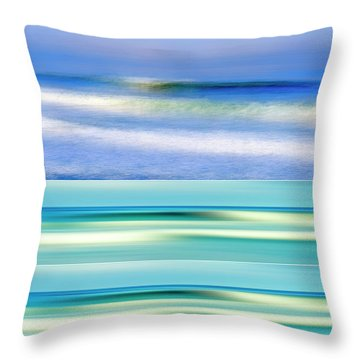 Sea Of Dreams Collage Throw Pillow