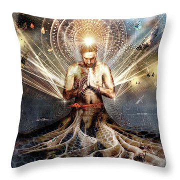Sea Of Energy Throw Pillow