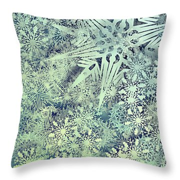 Sea Of Flakes Throw Pillow
