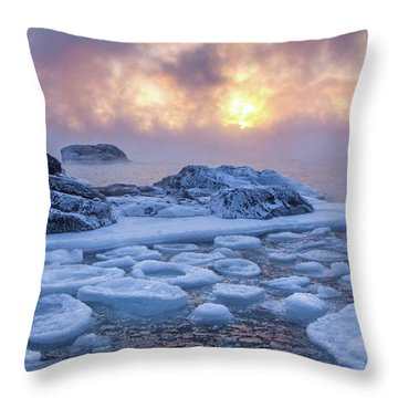Sea Of Geometry Throw Pillow