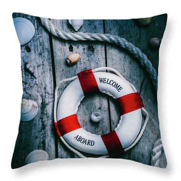 Sea Of Turbulence Throw Pillow