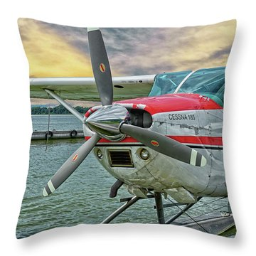 Sea Plane Throw Pillow