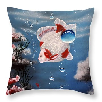 Sea Princess Throw Pillow