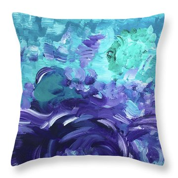 Sea Purple Throw Pillow