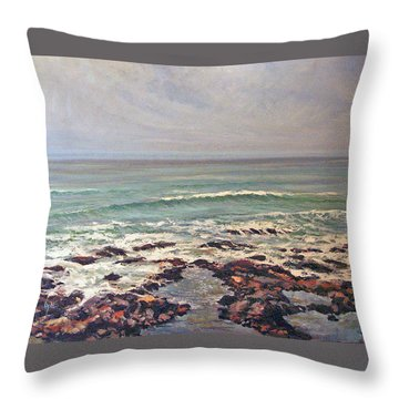 Sea Rocks Throw Pillow