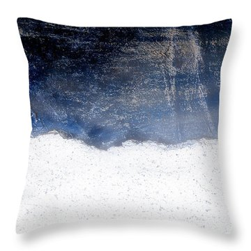 Sea, Satellite - Coast Line On Blue Ocean Illusion Throw Pillow