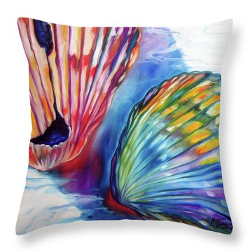 Sea Shell Abstract II Throw Pillow