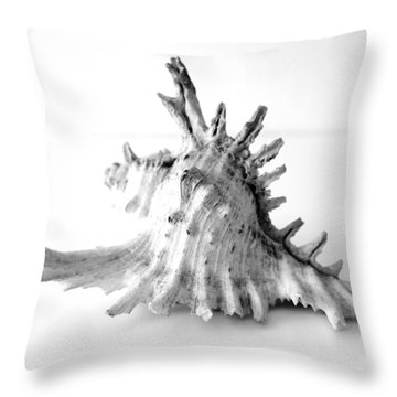 Throw Pillow featuring the photograph Sea Shell by Gina Dsgn