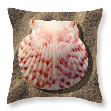 Sea Shell Throw Pillow by Mike McGlothlen