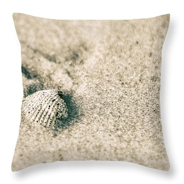 Throw Pillow featuring the photograph Sea Shell On Beach  by John McGraw
