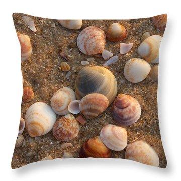 Sea Shells At Sunset Throw Pillow