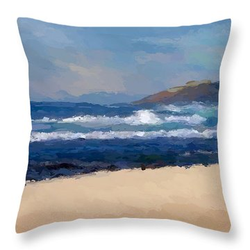 Sea Shore Throw Pillow